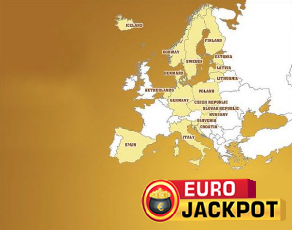 Eurojackpot lottery nations map