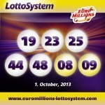 Latest EuroMillions Lottery Results 01-10-2013