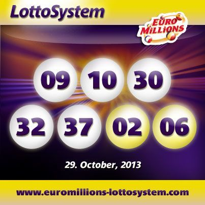 The Winning Numbers from Tuesday October 29th EuroMillions Drawing