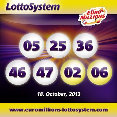 Winning EuroMillions Numbers for 18.10.2013