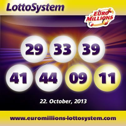 Winning Numbers for Tuesday October 22th EuroMillions Drawing